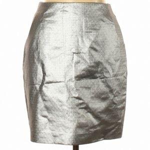 NWT H&M Silver Skirt w/Pockets